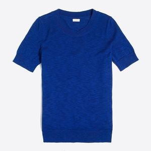 J. Crew Factory Blue Short-Sleeve Sweater